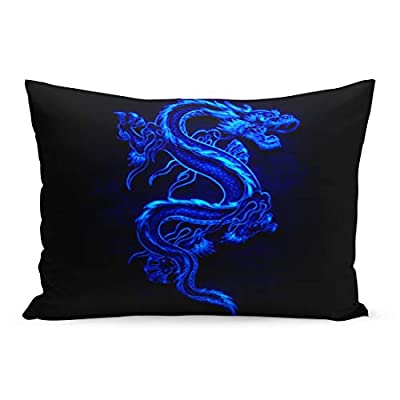 Aikul Throw Pillow Cover Graphic Chinese Dragon Pillow Case Cushion Cover Lumbar Pillowcase Decoration for Couch Sofa Bed Car, Parent Variation