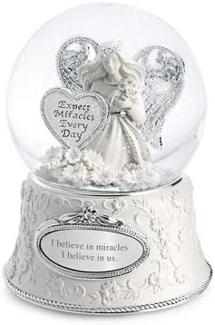 Things Remembered Personalized Miracle Angel Musical Snow Globe with Engraving Included