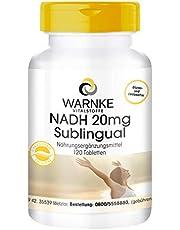 NADH Sublingual 20mg - hochdosiert & vegan - 120 Tabletten - Hergestellt in Deutschland