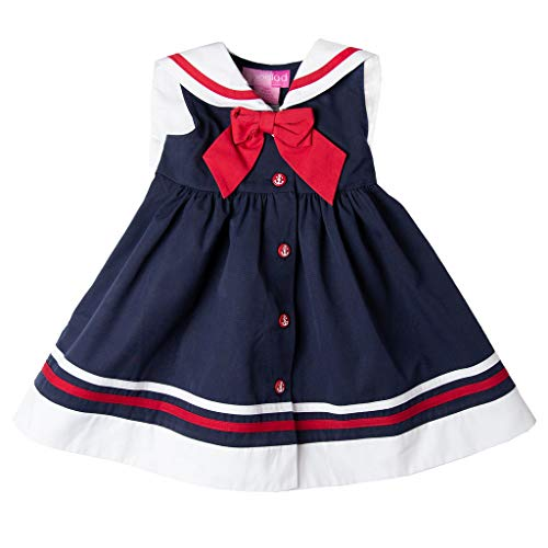 Good Lad Girls Dress - Good Lad Toddler thur 4/6X Girls Classic Navy Poplin Nautical Dress (2T)