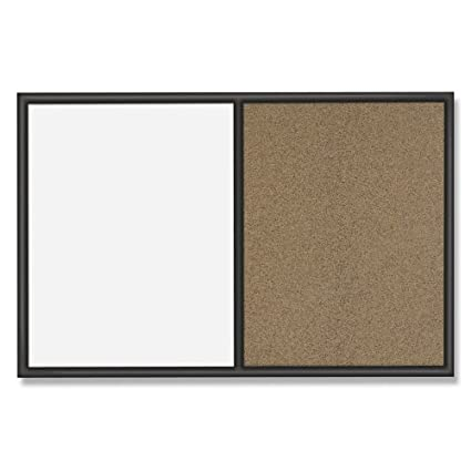 Quartet Whiteboard and Colored Cork Combination Board, 3 x 4 Feet, Black Frame (S564) ACCO Brands