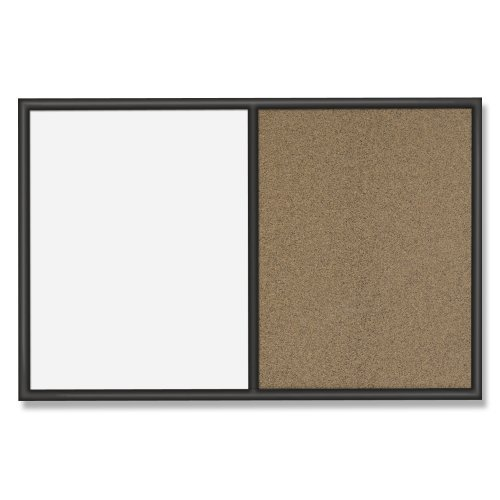 Quartet Whiteboard and Colored Cork Combination Board, 3 x 4 Feet, Black Frame (S564)