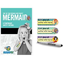 Quick Stick Write-on! Child ID Tattoos (Mermaid 6pk.)