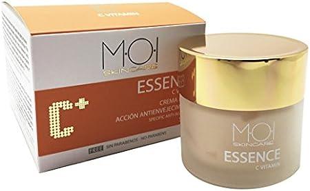 ESSENCE Crema facial antienvejecimiento SPF10 con Vitamina C SIN PARABENOS M·O·I SkinCare 60ml.