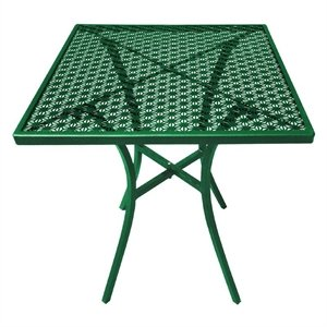 commercial square garden green steel patterned bistro table 700mm