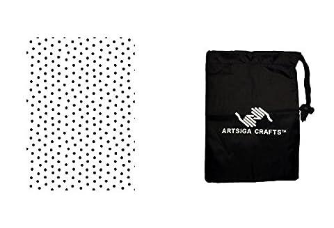 Darice Papercraft Embossing Folder Dot Background 5 x 7 (3 Pack) 1217 67 bundled with 1 Artsiga Crafts Small (7 Dots Studio)