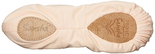 1 Slipper Light Pro Ballet Canvas Sansha Pink 0Sgqxg