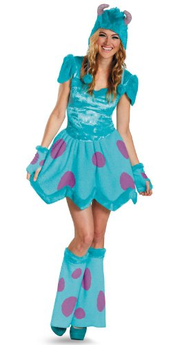Disguise Disney Pixar Monsters University Sassy Sulley Womens Adult Costume, Blue/Purple, (Adult Disney Characters Costumes)