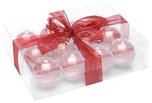 Ball Candles Round - Biedermann & Sons Metallic Ball Candles, Box of 12, Red, 1.5-Inch Diameter