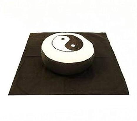 Cojín de meditación Meditación Juego Yin Yang símbolo Crema ...