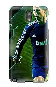 Awesome IUFVkNk2644OrnKh JeanieRichardCable Defender Tpu Hard Case Cover For Galaxy Note 3- Cristiano Ronaldo Goal