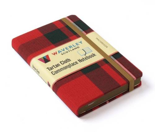 Scottish Tartan Ribbon - Macgregor Notebook: Waverley Genuine Scottish Tartan Notebook (Waverley Scotland Tartan Cloth Commonplace Notebooks/Gift/stationery/plaid)