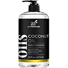 ArtNaturals Premium Fractionated Coconut Oil - 16 oz - Natural and Pure – Therapeutic Grade Carrier and Massage Oil – for Hair and Skin or Diluting Aromatherapy Essential Oils.