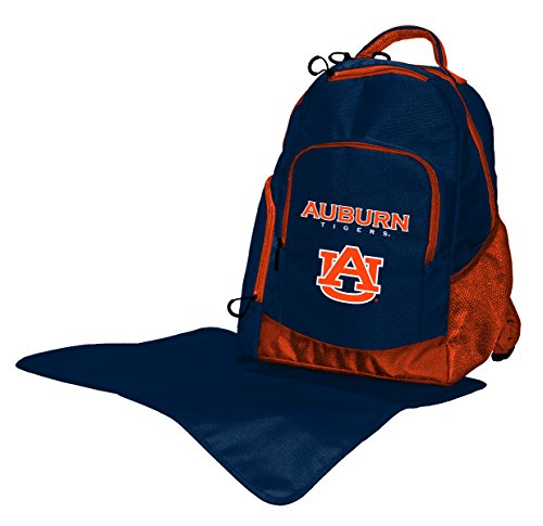 Wild Sports NCAA College Auburn Tigers Diaper Backpack, 17 x 13.5 x 7-Inch, - Backpack Tigers Auburn