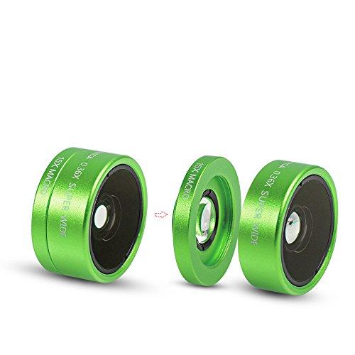 3 in 1 Macro/Fish-eye/Wide Universal Clip Lens (green) - 6