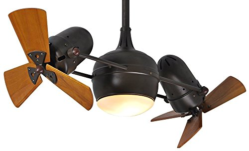 - 41 in. Dual Rotational Ceiling Fan in Textured Bronze
