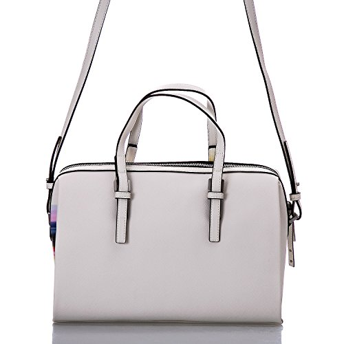 CALVIN KLEIN - Femme sac a main marissa print duffle blanc