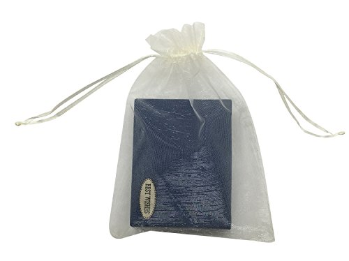 (SUNGULF 100pcs Organza Pouch Bag Drawstring 5x7