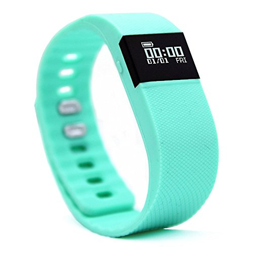 Activity Tracker - NewYouDirect Fitness Tracker Smart Watch Smart Band Wireless Bluetooth Sleep Monitor Wristband Running Pedometer Exercise for Android 4.3 IOS 7.0 (Mint Green)