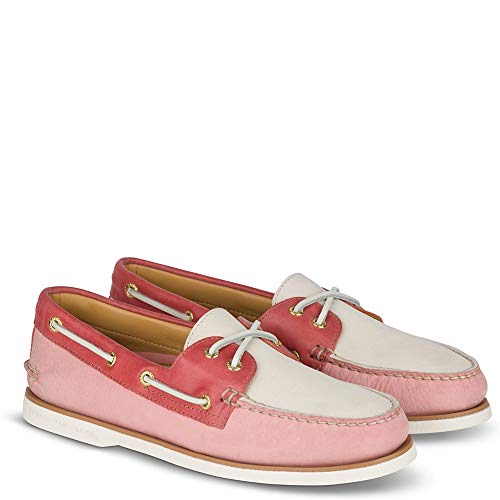 SPERRY Men's Gold A/O 2-Eye Pastel Nantucket Red 11 M - Lacing System Eyelet