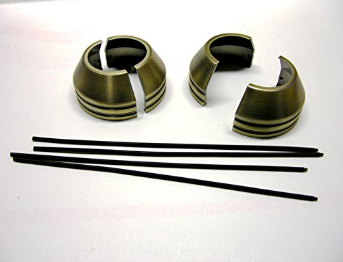 Front End Forks - Mr Luckys EZ-On Fork Boot Covers, Antique Brass, fit 41mm Harley FXWG/ST front ends, Custom, Bobber, Chopper.