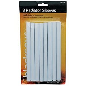 radiator pipe covers sleeves white 15mm 8 pack amazon. Black Bedroom Furniture Sets. Home Design Ideas