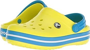 Crocs Kids' Crocband K Clog,tennis Ball Greenocean,9 M Us Toddler 0