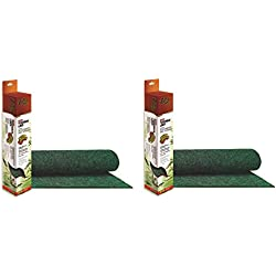(2 Pack) Zilla Reptile Terrarium Bedding Substrate Liner, Green - 20 Gallon