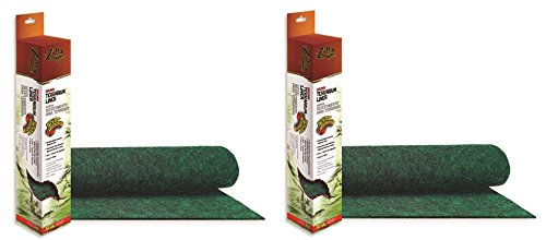 ((2 Pack) Zilla Reptile Terrarium Bedding Substrate Liner, Green - 20 Gallon)
