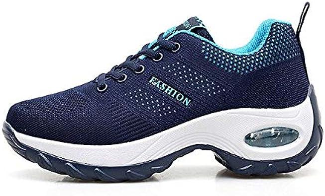 RONGXIE Ocio Mujer Zapatillas De Deporte Amortiguación De Otoño Amortiguación Zapatillas para Correr Mujer Cómoda Pisos Transpirables Plataforma Femenina: Amazon.es: Zapatos y complementos