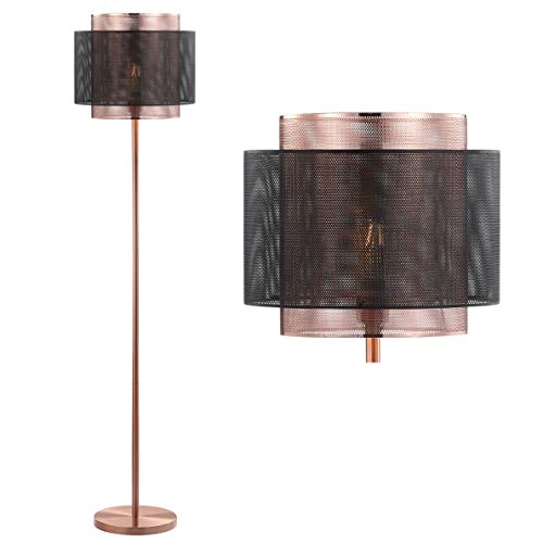JONATHAN Y JYL6107A Tribeca 60.5″ Metal LED Floor Lamp, Copper/BlackContemporary Transitional for Bedroom, Living Room
