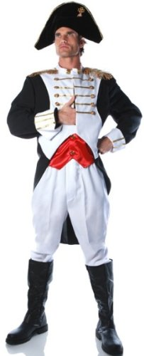 Underwraps Costumes Men's King Napoleon Costume -Plus, White/Red/Black, XX-Large