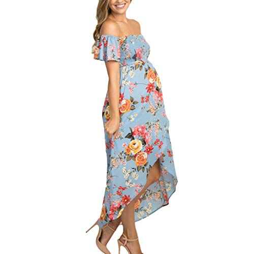 Maternity Nursing Dress,SuperUS Women Pregnant Maternity Long Dress Summer Casual Print Sleeveless Dress
