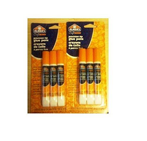 Elmer's Craft Bond Precision Tip Glue Pens, 2 Packages of 3 Glue Pens (6 Total)
