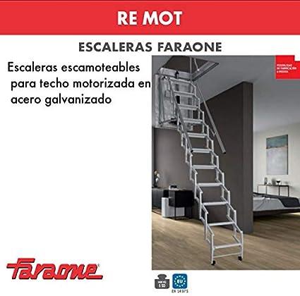 ESCALERA ESCAMOTEABLE MOTORIZADA RE.MOT. FARAONE. LCS (MOT70110. (70X110)): Amazon.es: Bricolaje y herramientas