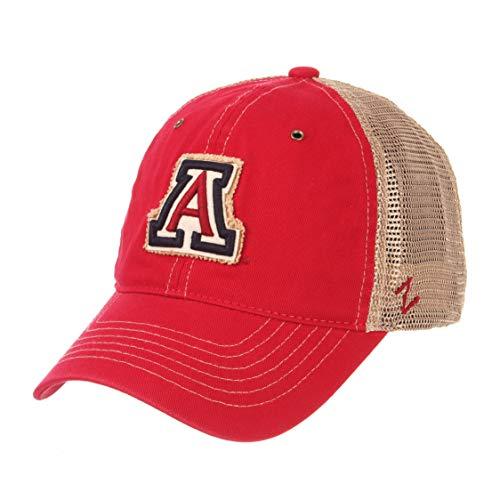 Zephyr NCAA Arizona Wildcats Men's Tatter Relaxed Cap, Adjustable, Dark Red ()
