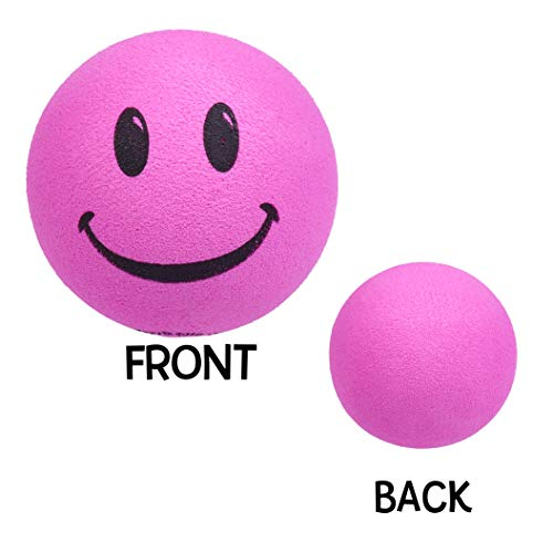 - Tenna Tops - Pink Smiley Happy Face Car Antenna Topper - Antenna Ball - Rear View Mirror Dangler - Auto Accessory