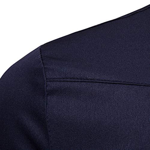 Chemises Unie Marine Poche Manches Longues Hommes À Décontracté Chemisier Piebo Taille Mode Printemps Pour Chemise Hiver Blouse Grande De x05qtwRxZU
