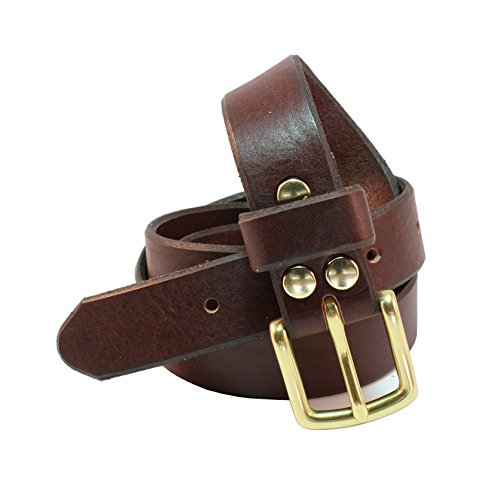 Beverly Full Grain Leather Designer Hand Crafted Belt 1 inch(26mm) Wide With Gold Polished Buckle