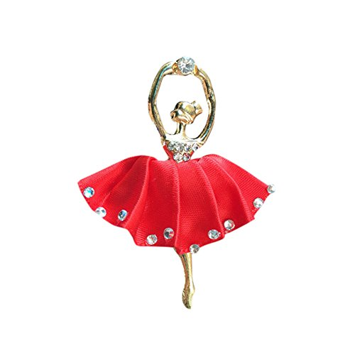 Glumes 1pc Ballet Clip Air Freshener for Cars Fragrant Perfume Clip with Fragrant Balm Attractive design, Fashion and beauty. (red)