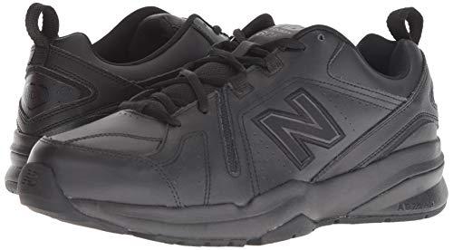 New Balance Men's 608 V5 Casual Comfort Cross Trainer, Black/Black, 10 W US