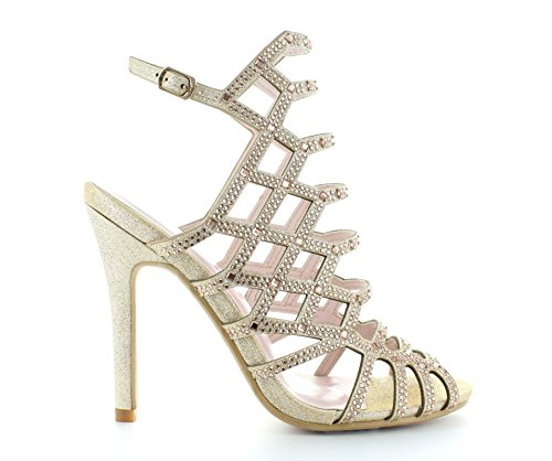 Urban Heels Women's High Heel Rhinestone Sandal (Rhinestone High Heels)