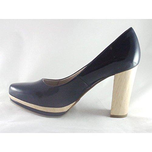 Zapatos azules de punta abierta Marco Tozzi para mujer AjMZuhSqH1