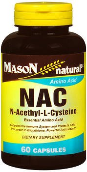 Mason Natural NAC, N-Acethyl-L-Cysteine Capsules - 60 Capsules, Pack of 6 by Mason Natural