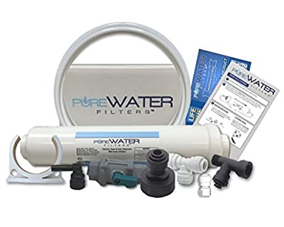 Inline Water Filter Kit for Coffee Makers Including Keurig and Flavia Brewers