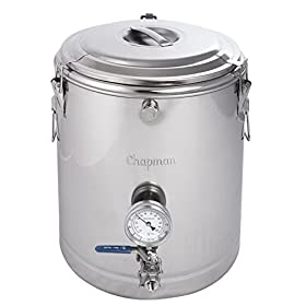 Chapman 15 Gallon ThermoBarrel Stainless Steel Mash Tun