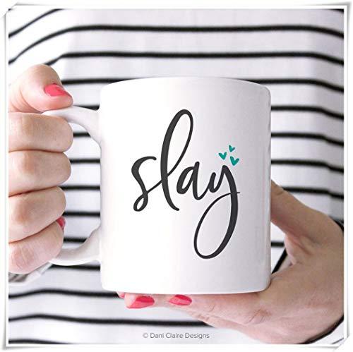 Mr.Fixed - Slay Coffee Mug. Boss Lady Gift. You Go Girl Mug. Boss Mom Gift. Mug for Best Friend. Boss Babe Mug. Slay All Day Cup. Birthday Gift for Her, 11oz Ceramic Coffee Mug, Unique Gift