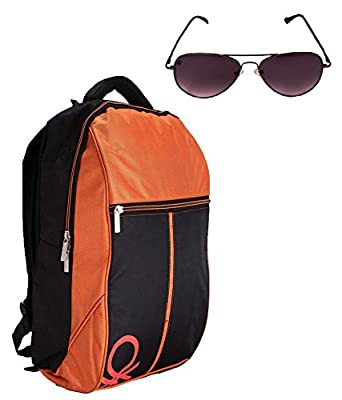 United Colors Of Benetton Orange Laptop Bag   Free 100% UV Protected  Spartiate Sunglass  Amazon.in  Clothing   Accessories ecf6b3e639