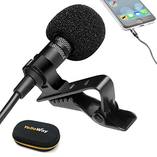 Lavalier Lapel Microphone for iPhone 6 7 8 X, Excellent Lapel Mic for YouTube InterviewsPodcastingLive StreamingVideo - External Mini Microphone with Clip On