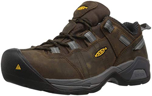 Keen Utility Men's Detroit XT Steel Toe ESD Industrial Shoe, Cascade Brown/Gargoyle, 10.5 2E US